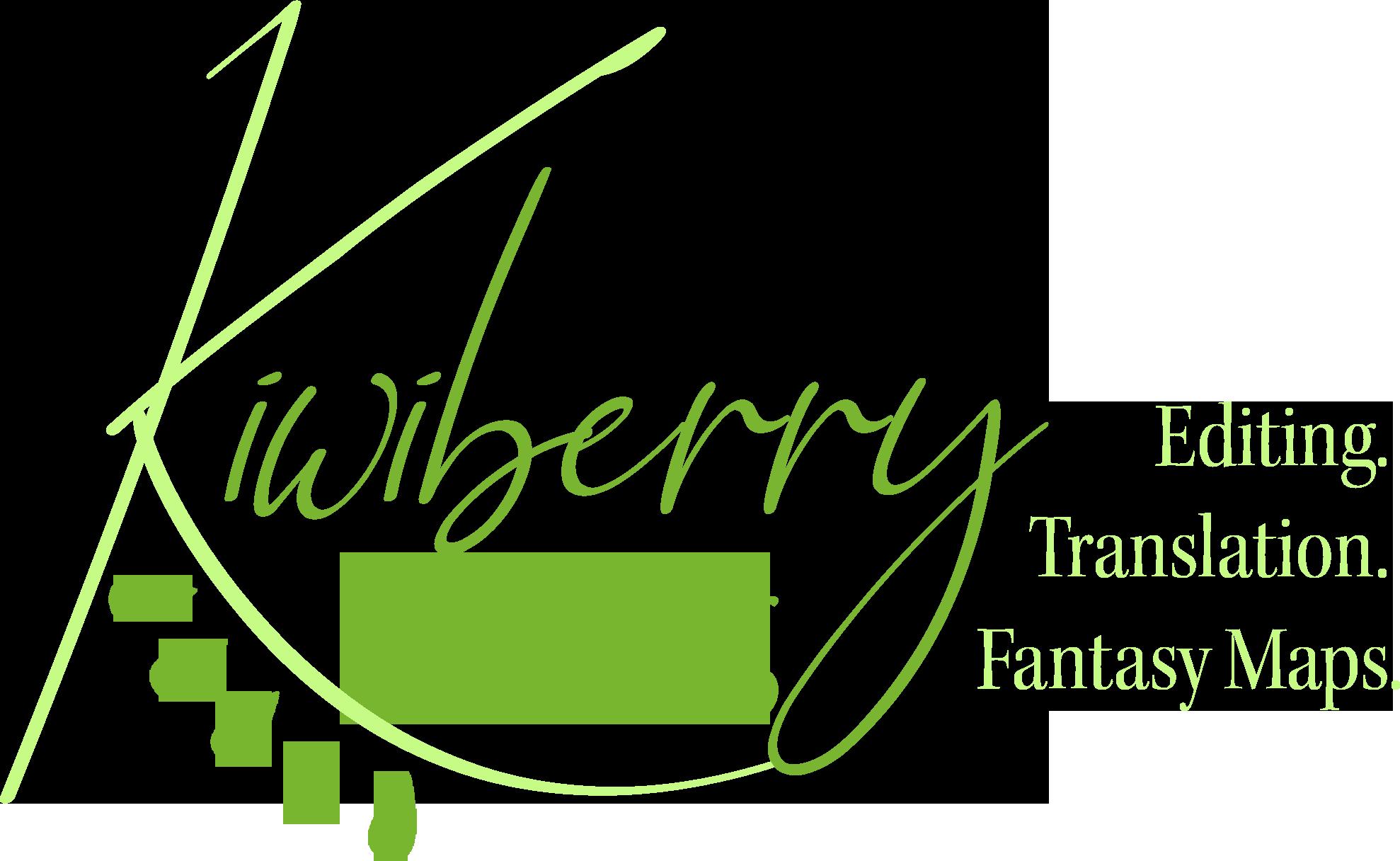 kiwi editing logo mit text hell